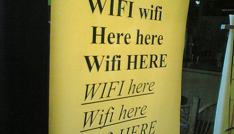 WiFi here (Photo credit: Roland Taglao, Public Domain)